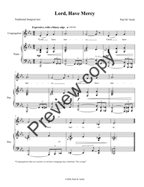 Lord, Have Mercy (full score and congregational part) | Music | Blues