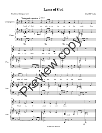 Lamb of God (full score and congregational part) | Music | Jazz