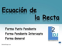 Ecuacion de la recta