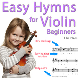 Leaning On The Everlasting Arms - Easy Violin | eBooks | Sheet Music