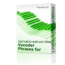 Vocoder Phrases - WAV Download | Music | Soundbanks