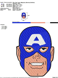 captain america embroidery design