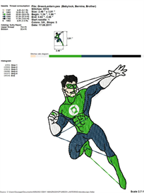 Green Lantern Embroidery Design | Crafting | Sewing | Other