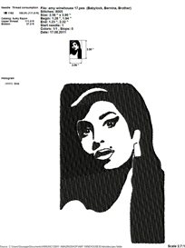 Amy Winehouse Embroidery Design | Crafting | Sewing | Other