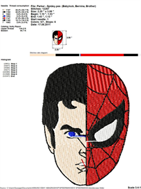 Spiderman Embroidery Design | Crafting | Sewing | Other