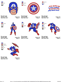 Captain America Embroidery Designs | Crafting | Sewing | Other