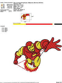 Iron-Man Embroidery Design | Crafting | Sewing | Other