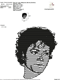 Michael Jackson Embroidery Design | Crafting | Sewing | Other