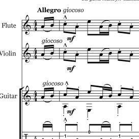 Angry birds trio sheet music guitar flute violin - Angry birds trio ...