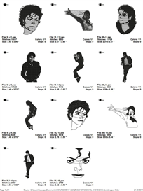 Michael Jackson Embroidery Designs | Crafting | Sewing | Other