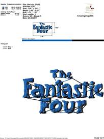 Fantastic Four Embroidery Design | Crafting | Sewing | Other