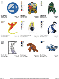 Fantastic Four Embroidery Designs | Crafting | Sewing | Other