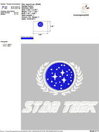Star Trek Embroidery Design | Crafting | Sewing | Other
