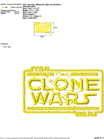 Star Wars (The Clone Wars) Embroidery Design | Crafting | Sewing | Other