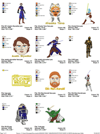 Star Wars (The Clone Wars) Embroidery Designs | Crafting | Sewing | Other