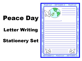 peace day letter writing stationery set