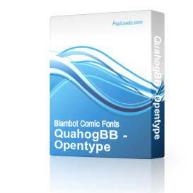 QuahogBB - Opentype | Software | Design
