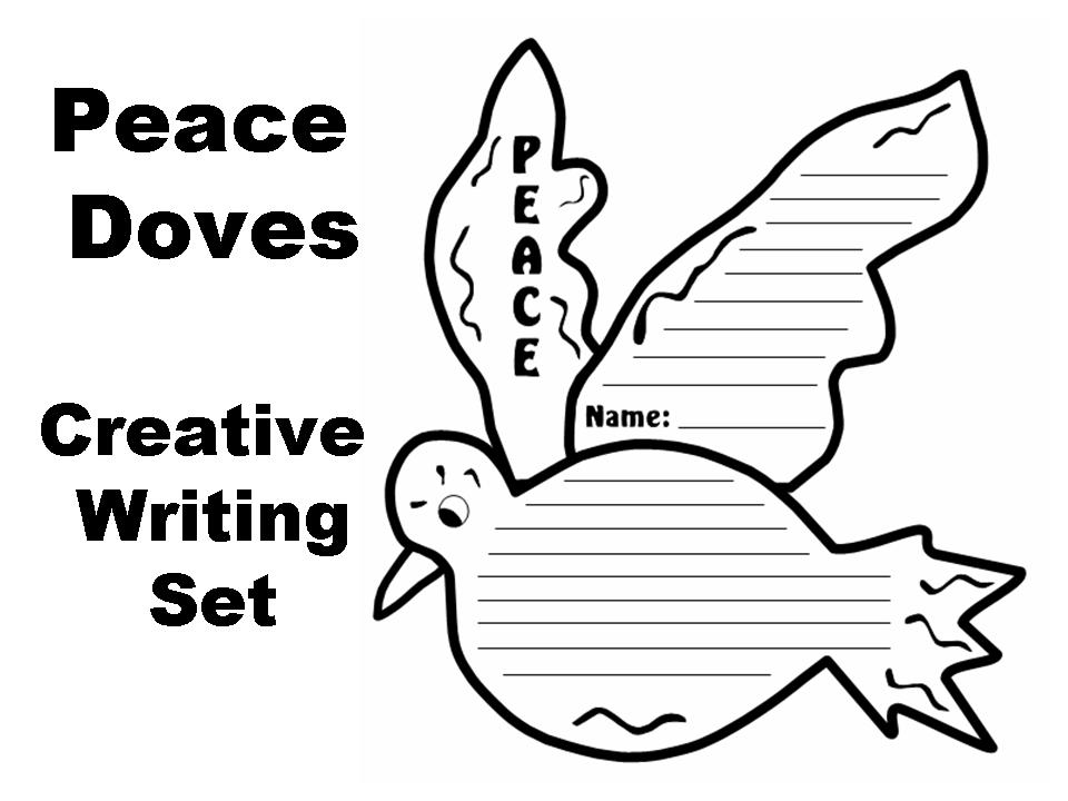 Peace Doves Creative Writing Templates | Documents and Forms ...