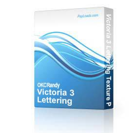 Victoria 3 Lettering Texture Package | Software | Design