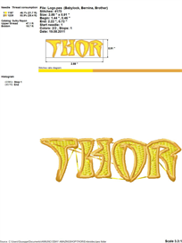 Thor Embroidery Design | Crafting | Sewing | Other