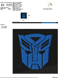 Transformers Embroidery Design | Crafting | Sewing | Other