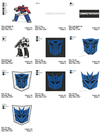 Transformers Embroidery Designs | Crafting | Sewing | Other