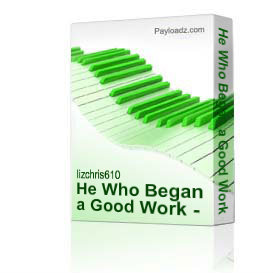 He Who Began a Good Work - backtrack | Music | Children