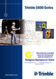 Trimble 5600 Series User Guide | Documents and Forms | Manuals