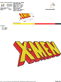 X-Men Embroidery Design | Crafting | Sewing | Other
