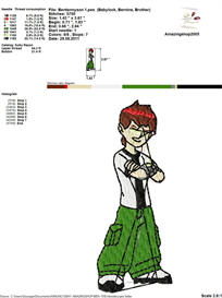 Ben 10 Embroidery Design | Crafting | Sewing | Other