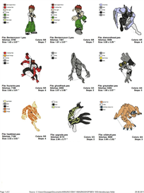 Ben 10 Embroidery Designs | Crafting | Sewing | Other