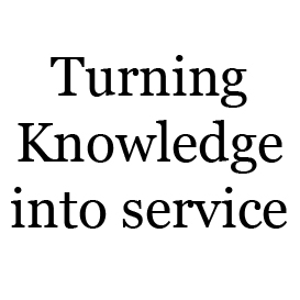 turning knowledge into service