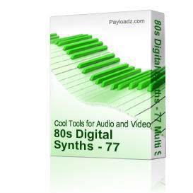 80s Digital Synths - SoundFont Download | Music | Soundbanks