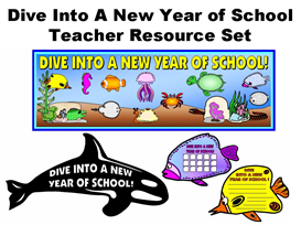 Dive Into A New Year of School Teacher Resource Set | Documents and Forms | Other Forms