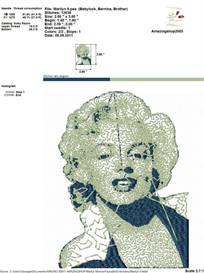 Marilyn Monroe Embroidery Design | Crafting | Sewing | Other