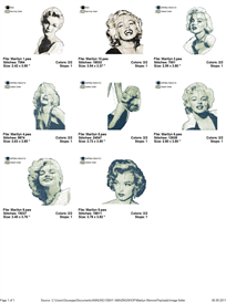 Marilyn Monroe Embroidery Designs | Crafting | Sewing | Other