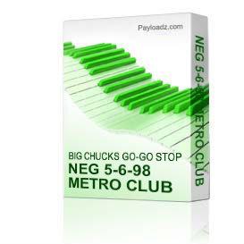 Neg 5-6-98 Metro Club | Music | Miscellaneous