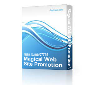magical web site promotion manager light