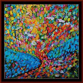 Mosaic Tree - Scharf cross stitch pattern by Cross Stitch Collectibles | Crafting | Cross-Stitch | Other