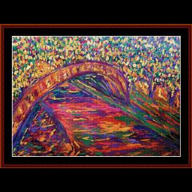 Seine River - Scharf cross stitch pattern by Cross Stitch Collectibles | Crafting | Cross-Stitch | Wall Hangings