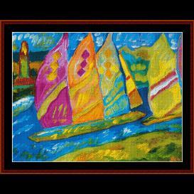 regatta vi - scharf cross stitch pattern by cross stitch collectibles