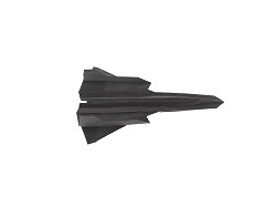 Fourth Additional product image for - Origami SR-71 Blackbird Tutorial Video