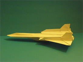origami sr-71 blackbird tutorial video