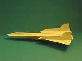 origami sr-71 blackbird tutorial video