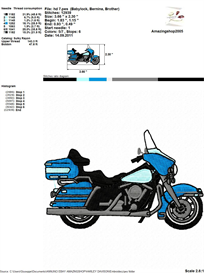 Motorcycle Logo Embroidery Design | Crafting | Sewing | Other