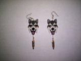 Brick Stitch/Peyote Alaskan Malamute Seed Beading Earring Pattern-234 | Other Files | Arts and Crafts