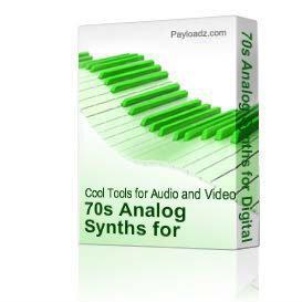 70s Analog Synths Web Download - WAV Format | Music | Soundbanks