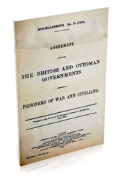 agreement between the british and otterman governments respecting prisoners of war and civilians