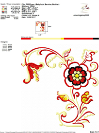 Flower Embroidery Design | Crafting | Sewing | Other