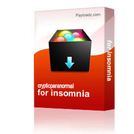 for insomnia | Other Files | Everything Else